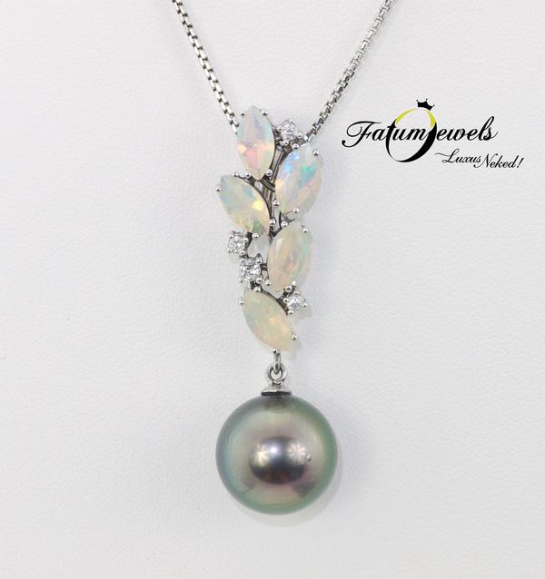 Fatumjewels opál tahiti gyöngy medál