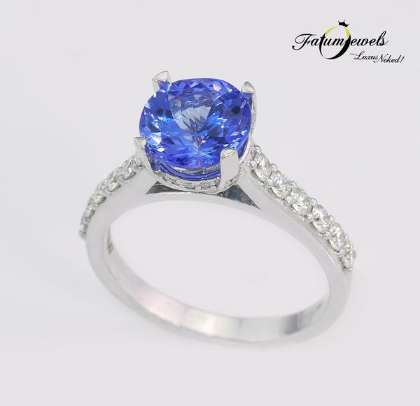 Fatumjewels gyémánt tanzanit gyűrű