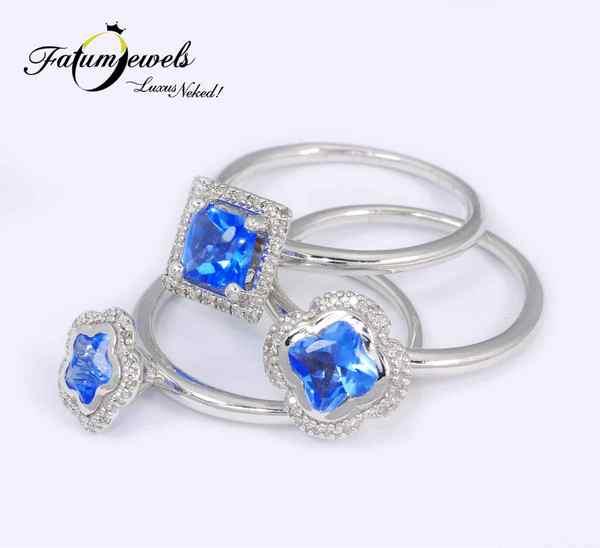 Gyémánt tanzanit gyűrű a Fatumjewels Galériában
