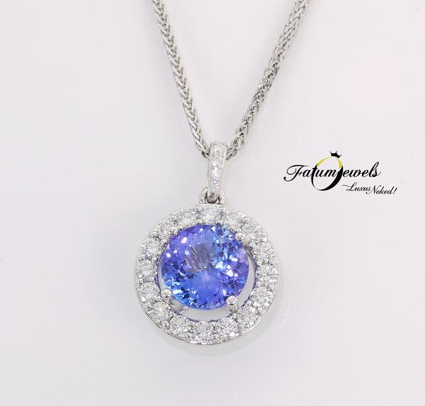 Fatumjewels egyedi gyémánt tanzanit medál
