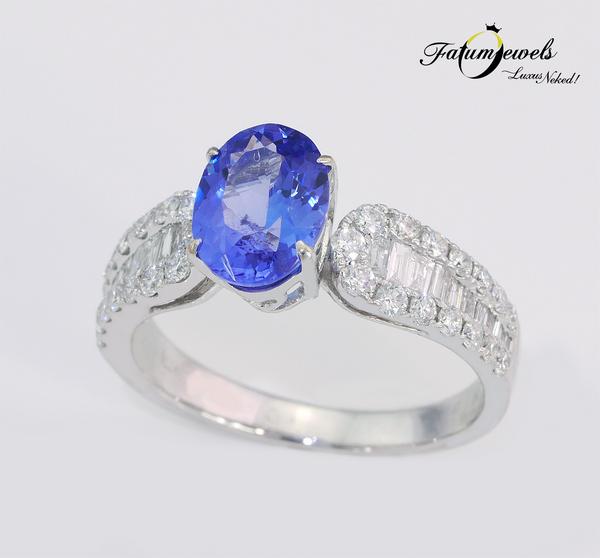 Fatumjewels egyedi gyémánt tanzanit gyűrű
