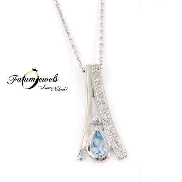 Fatumjewels gyémánt akvamarin medál