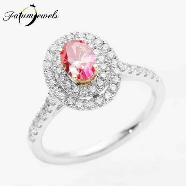 Rózsaszín gyémántgyűrű