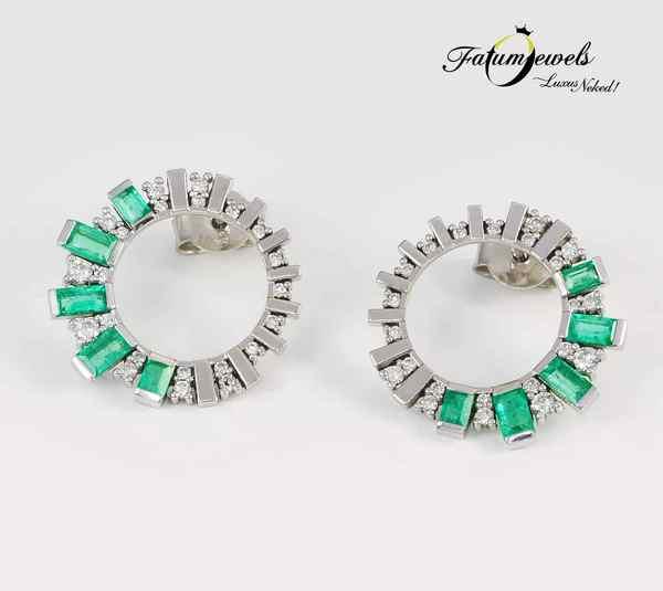Gyémánt smaragd fülbevaló május
