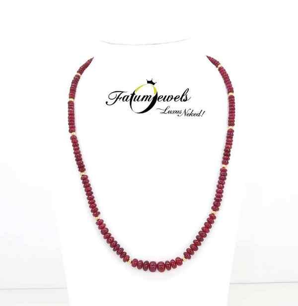 Fatumjewels rubin nyaklánc