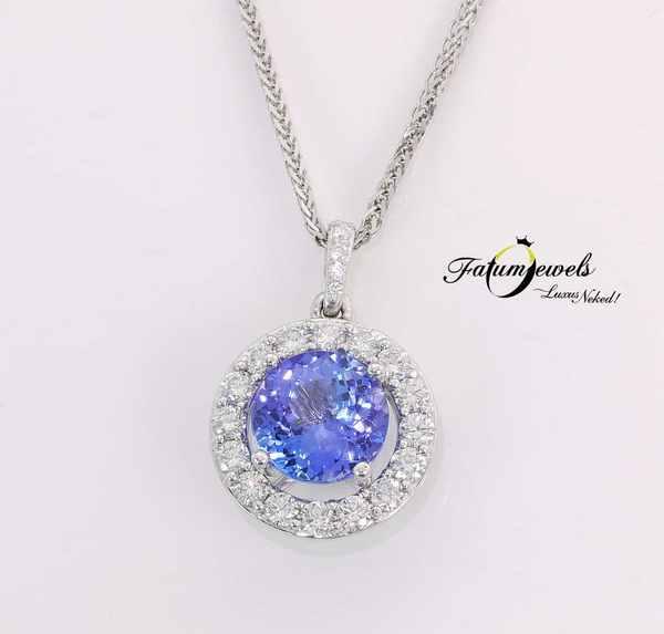 Gyémánt tanzanit medál december