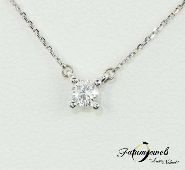 Fatumjewels fehérarany szoliter gyémánt medál nyaklánccal