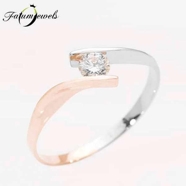 Fatumjewels bikolor gyémántgyűrű