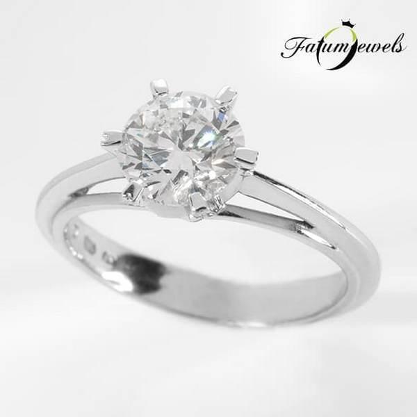 Briliáns gyémánt Fatumjewels eljegyzési gyémántgyűrű