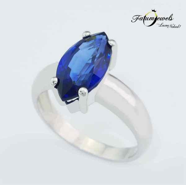 Márkíz kék zafír gyűrű Fatumjewels Galéria