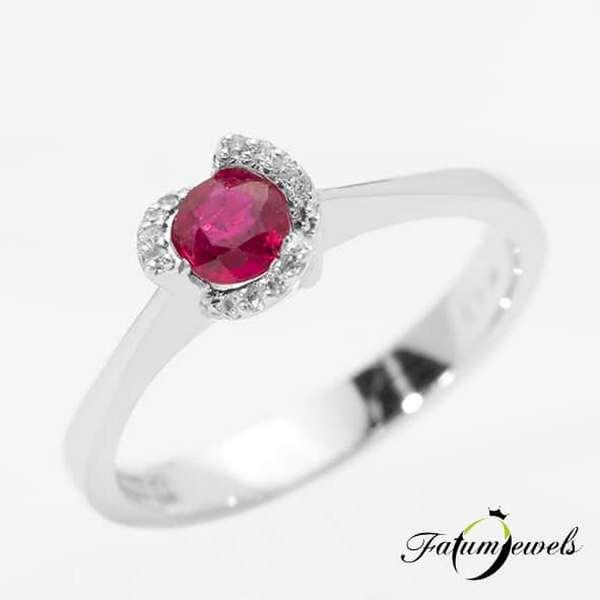 Briliáns rubin Fatumjewels gyémánt rubin gyűrű