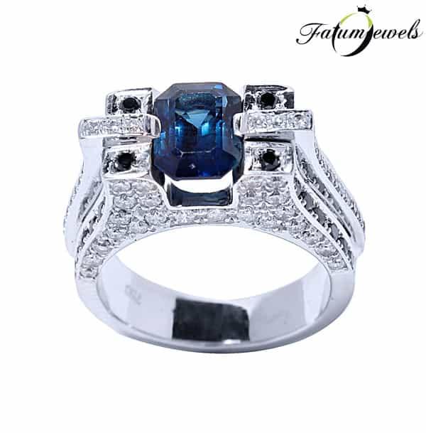 Fatumjewels Valkűr gyémánt zafír gyűrű
