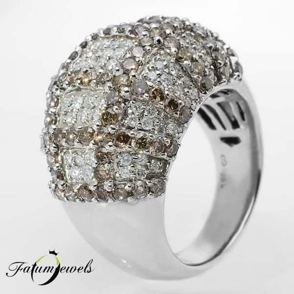 Briliáns gyémánt Fatumjewels Mezoti gyémántgyűrű