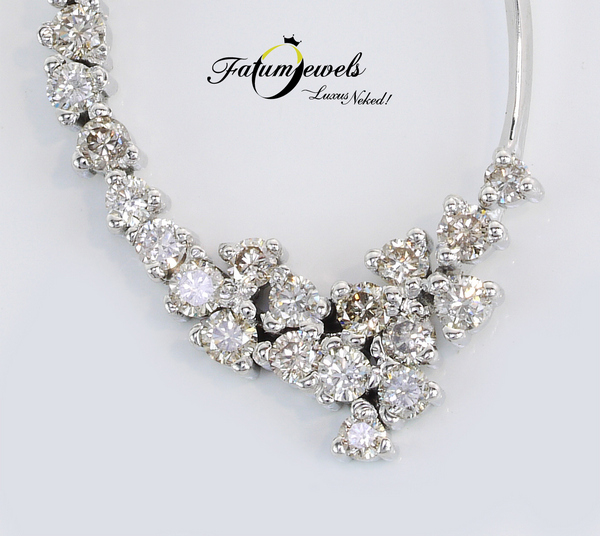 Briliáns gyémánt Fatumjewels pezsgő gyémánt medál